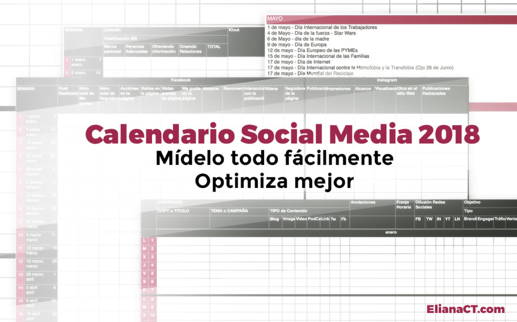 Calendario Estratégico Social Media 2018